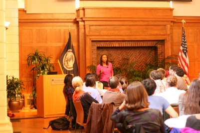Dr. Harold gave opening remarks on the history of race at U.Va.
